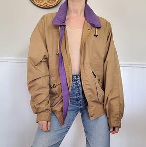 Camel brown bomber jacket